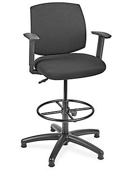 Fabric Office Stool - Black H-7589BL