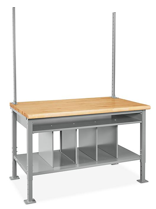 """Packing Station Starter Table - 60 x 36"""", Maple Top H-7630-MAP"""