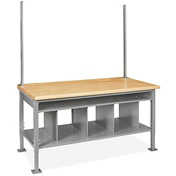 """Packing Station Starter Table - 72 x 36"""", Maple Top H-7631-MAP"""
