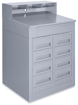 4 Drawer/4 Drawer Storage Shop Desk H-7647