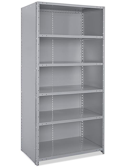 """Closed Industrial Steel Shelving - 36 x 24 x 75"""" H-7678"""