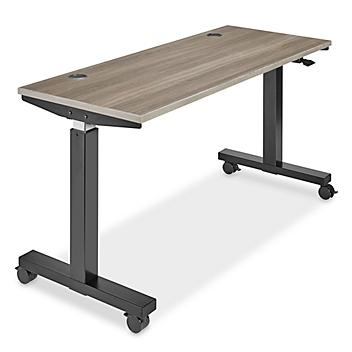 """Adjustable Height Training Table - 60 x 24"""", Gray H-7704GR"""