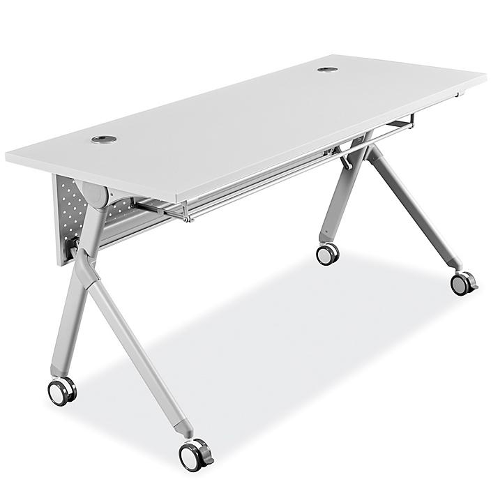 """Deluxe Mobile Training Table - 60 x 24"""", White H-7775W"""