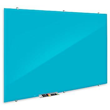 Magnetic Glass Dry Erase Board - Blue, 6 x 4' H-7807BLU