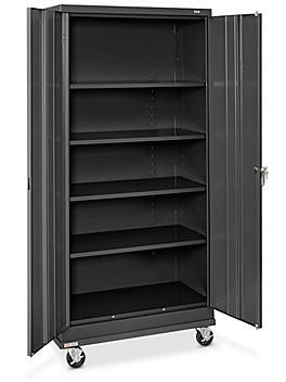 "Standard Mobile Storage Cabinet - 36 x 18 x 78"", Unassembled, Black H-7811BL"