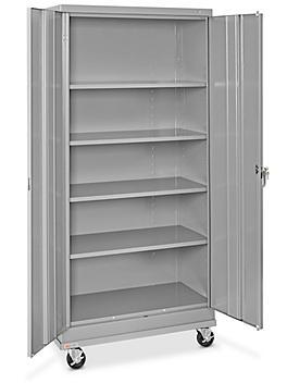 "Standard Mobile Storage Cabinet - 36 x 18 x 78"", Unassembled, Gray H-7811GR"