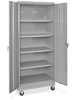 "Standard Mobile Storage Cabinet - 36 x 24 x 84"", Assembled, Gray H-7812AGR"