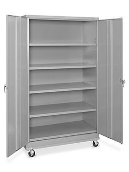 "Standard Mobile Storage Cabinet - 48 x 24 x 84"", Assembled, Gray H-7813AGR"