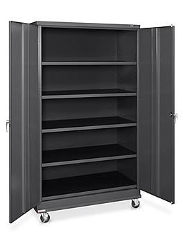 "Standard Mobile Storage Cabinet - 48 x 24 x 84"", Unassembled, Black H-7813BL"