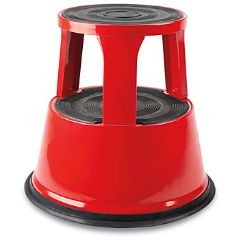 Rolling Step Stool - Red H-7846R