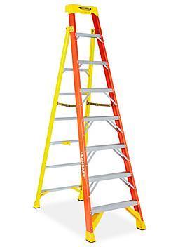 LeanSafe™ Fiberglass Step Ladder - 8' H-7908