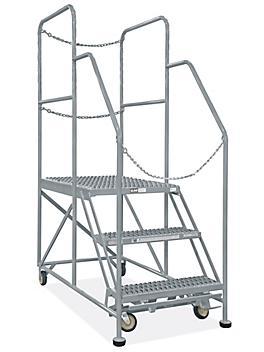 """Rear-Exit Work Platform - 3 Steps, 24 x 36"""" H-7918"""