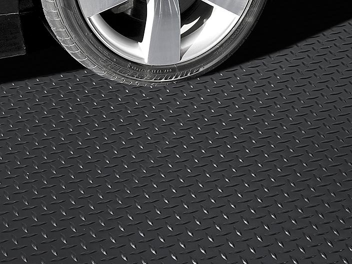 Garage Floor Mat - Diamond, 7 1/2 x 17', Black H-7934BL