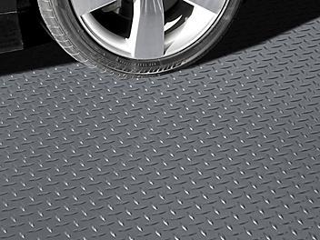 Garage Floor Mat - Diamond, 7 1/2 x 17', Gray H-7934GR