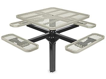 """Inground Mount Picnic Table - 46"""" Square, Beige H-7951BE"""