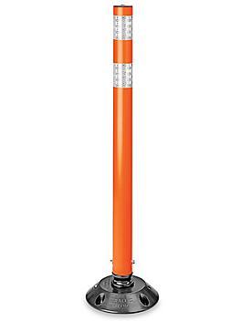 "Flexible Delineator Post with Base Bulk Pack - 36"", Orange H-7959O"