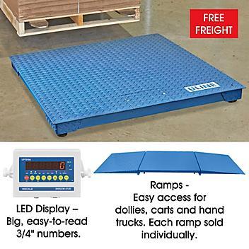 Low Profile Floor Scale - 4 x 4', 2,500 lbs x .5 lb H-8018