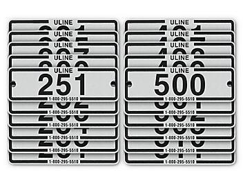 Industrial Locker Number Plates #251-500 H-8054