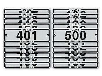 Industrial Locker Number Plates #401-500 H-8061