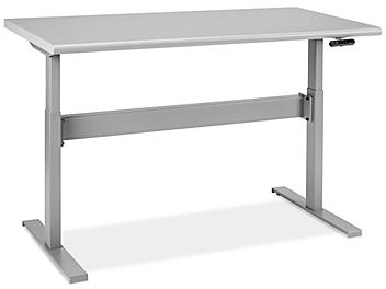 """Adjustable Height Workbench - 60 x 30"""", Laminate Top H-8184-LAM"""