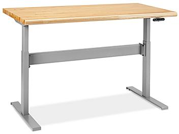 """Adjustable Height Workbench - 60 x 30"""", Maple Top H-8184-MAP"""