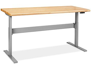"""Adjustable Height Workbench - 72 x 30"""", Maple Top H-8185-MAP"""