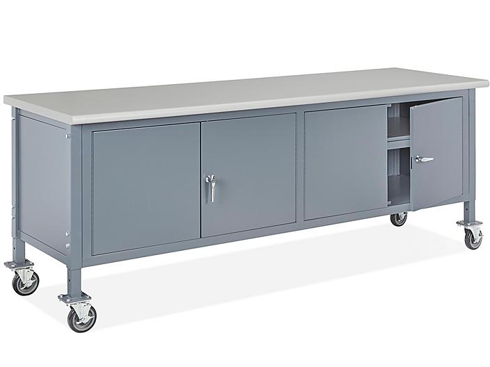 """Mobile Cabinet Workbench - 96 x 30"""", Laminate Top H-8206-LAM"""