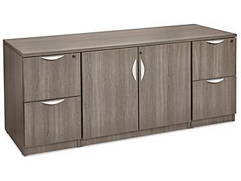Laminate Storage Credenza - Gray H-8224GR