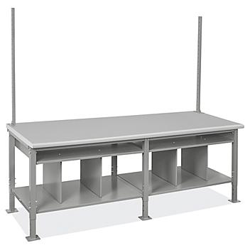 """Packing Station Starter Table - 96 x 36"""", Laminate Top H-8226-LAM"""