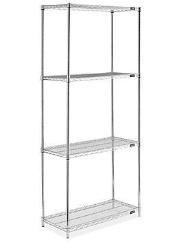 "Epoxy Wire Shelving Unit - 36 x 18 x 86"", Zinc H-8284Z"