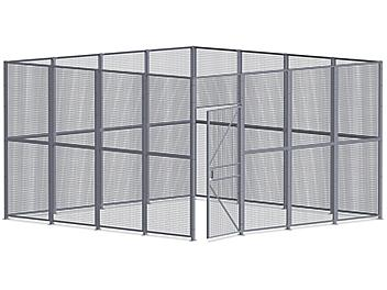 Wire Security Room - 16 x 16 x 10', 4-Sided H-8296-4