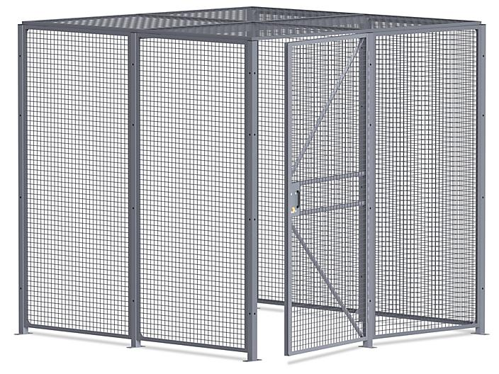 Wire Security Room with Roof - 8 x 8 x 8', 3-Sided H-8297-3
