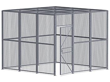 Wire Security Room with Roof - 12 x 12 x 10', 4-Sided H-8301-4