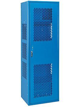 "Gear Locker with Door - 1 Wide, Unassembled, 24"" Wide, 18"" Deep, Blue H-8322BLU"