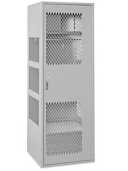 "Gear Locker with Door - 1 Wide, Unassembled, 24"" Wide, 24"" Deep, Gray H-8323GR"