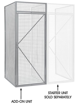 "Add-On Unit for Bulk Storage Locker - Single Tier, 1 Wide, Unassembled, 36"" Wide, 48"" Deep H-8324-ADD"