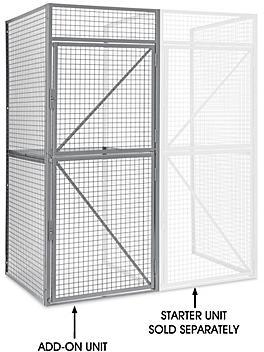 "Add-On Unit for Bulk Storage Locker - Double Tier, 1 Wide, Unassembled, 36"" Wide, 48"" Deep H-8325-ADD"