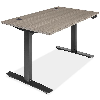 "Adjustable Height Desk - 48 x 30"", Gray H-8362GR"