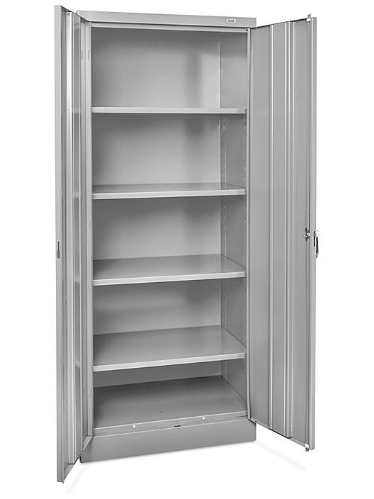 """Industrial Metal Storage Cabinet - 30 x 18 x 72"""", Assembled, Gray H-8447AGR"""