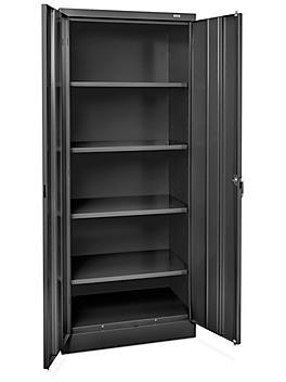 "Industrial Metal Storage Cabinet - 30 x 18 x 72"", Unassembled, Black H-8447BL"