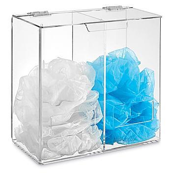 "All Purpose Acrylic Dispenser - Dual Compartment, 12 x 12 x 6"" H-8473"