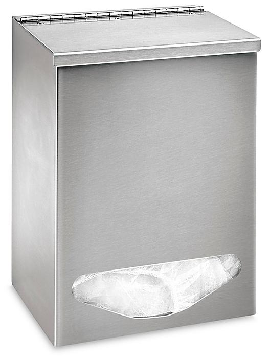 """All Purpose Stainless Steel Dispenser - Single Compartment, 11 x 8 x 6"""" H-8474"""