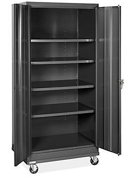 "Standard Mobile Storage Cabinet - 36 x 24 x 78"", Assembled, Black H-8505ABL"