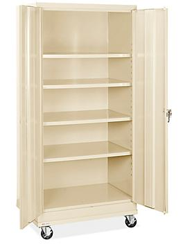 """Standard Mobile Storage Cabinet - 36 x 24 x 78"""", Assembled, Tan H-8505AT"""