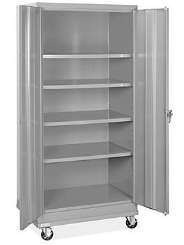 "Standard Mobile Storage Cabinet - 36 x 24 x 78"", Unassembled, Gray H-8505GR"
