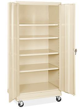 "Standard Mobile Storage Cabinet - 36 x 24 x 78"", Unassembled, Tan H-8505T"