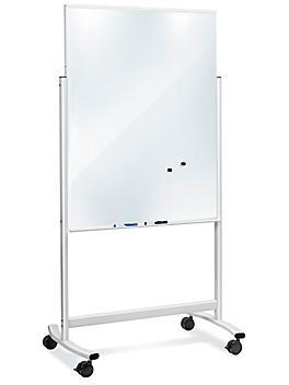 Mobile Glass Dry Erase Board - 3 x 4' H-8533