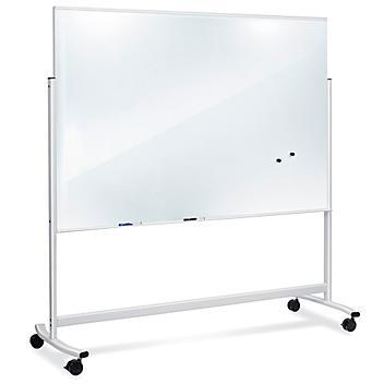 Mobile Glass Dry Erase Board - 6 x 4' H-8534