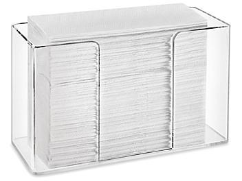 Folded Towel Dispenser - Countertop, Clear Acrylic H-8556
