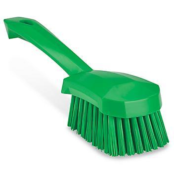 Colored Scrub Brush - Short Handle, Green H-8559G
